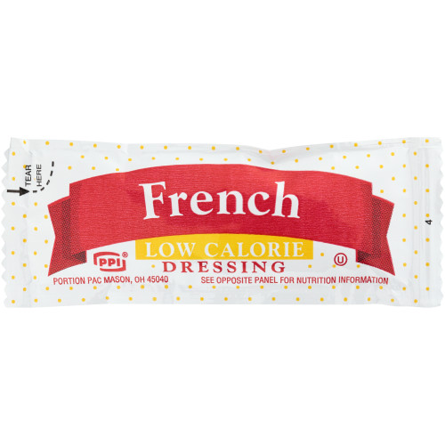 PPI Single Serve Low Calorie French Dressing, 12 gr. Packets (Pack of 200)