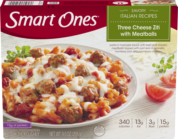 THREE CHEESE ZITI & MEATBALLS