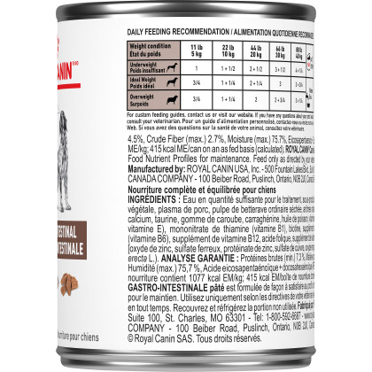 Royal Canin Veterinary Diet Canine Gastrointestinal Canned Dog Food