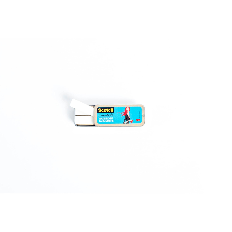 Scotch® Essentials Wardrobe Tape Strips W-101-A, 1/2 in x 3 in (1,27 cm x 7,62 cm), 36/Pack