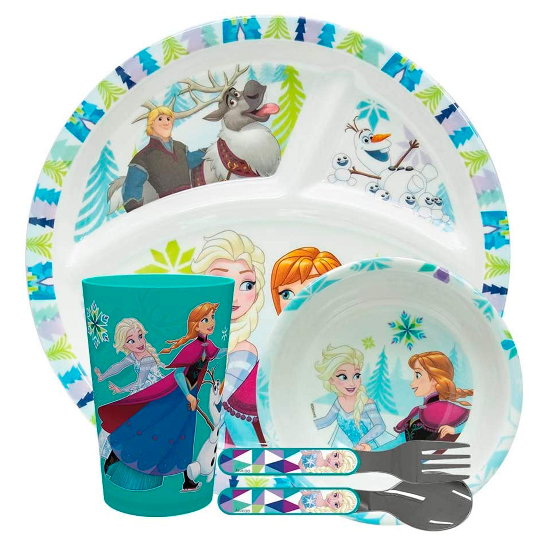 Disney Frozen Dinnerware Set, Anna and Elsa, 5-piece set slideshow image 2