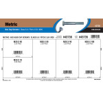Class 8.8 Metric Hex Cap Screws Assortment (M20-2.50 Thread)