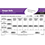 "Zinc Hanger Bolts & Dowel Screws Assortment (3/16"" thru 3/8"")"