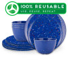 Confetti Dinnerware Set, Blue, 12-piece set slideshow image 1