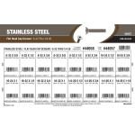 """Stainless Steel Flat-Head Cap Screws Assortment (#6-32 thru 1/4""""-20 Thread)"""