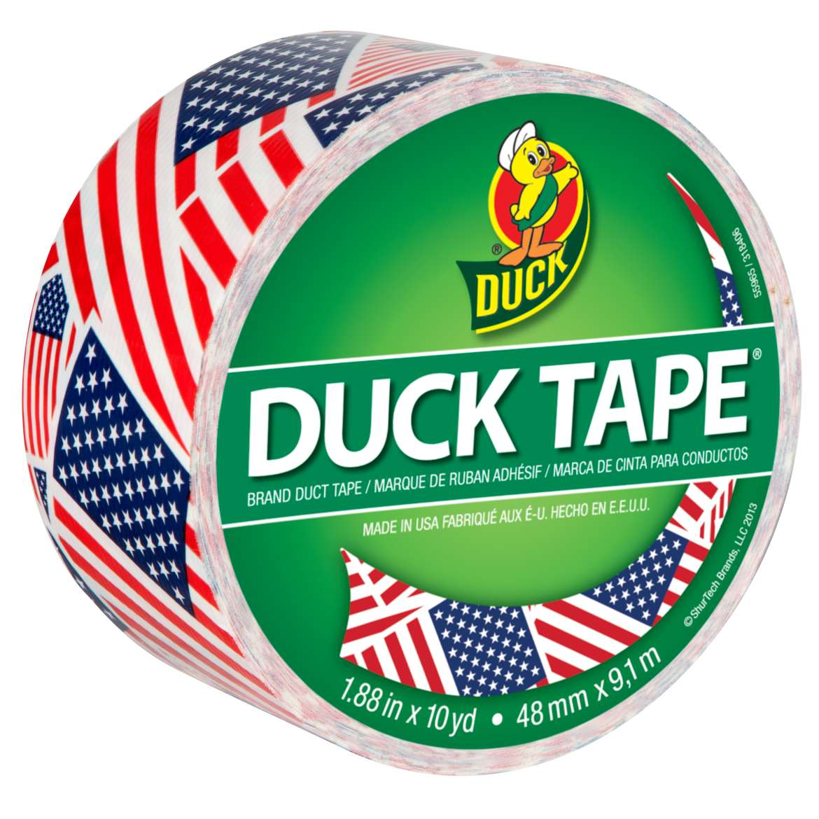 Printed Duck Tape® Brand Duct Tape - U.S. Flag, 1.88 in. x 10 yd. Image