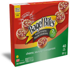 Bagel Bites Cheese, Sausage & Pepperoni Frozen Pizza Snacks, 882g, 40 Mini-Bagels