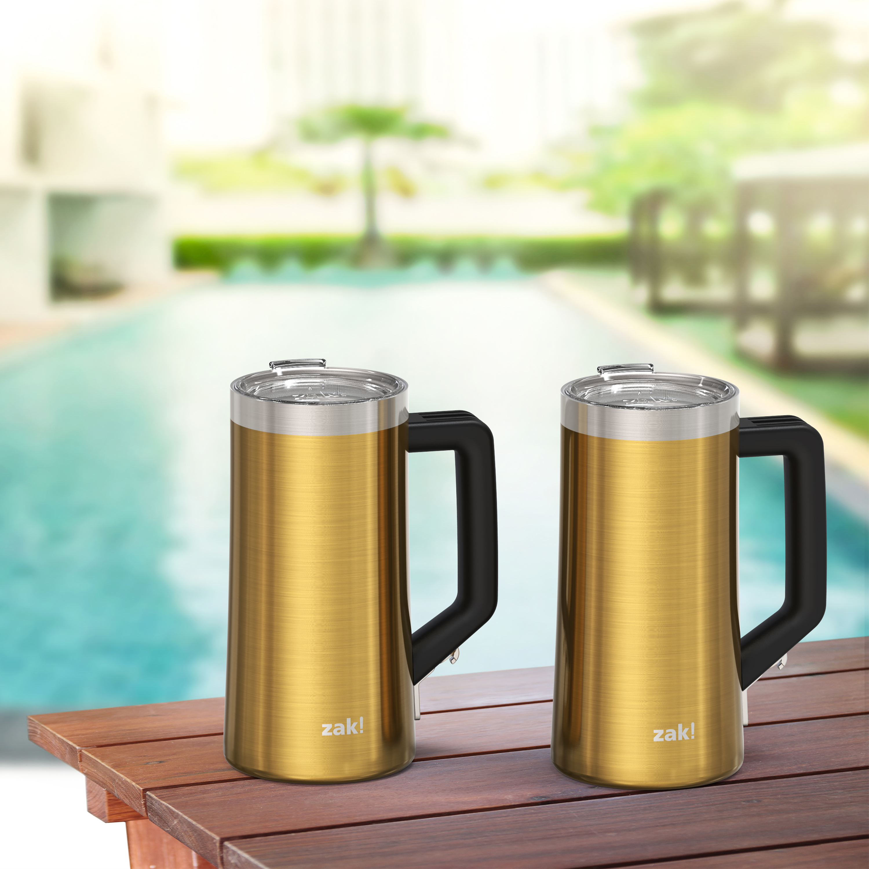 Creston 25 ounce Vacuum Insulated Stainless Steel Tumbler, Gold slideshow image 11