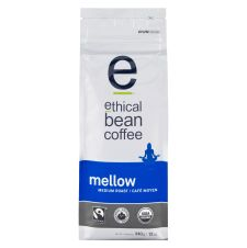 Ethical Bean Mellow Medium Roast Whole Bean Coffee - Organic - Fairtrade Certified, 340g