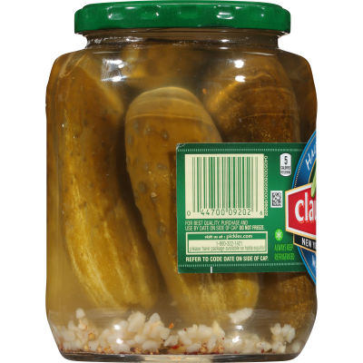 Claussen New York Deli Style Half Sour Whole Pickles 32 fl oz Jar
