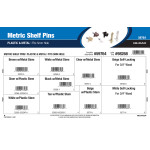 Plastic & Metal Metric Shelf Pins Assortment (Fits 5mm Hole)