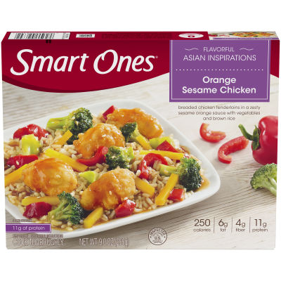 Smart Ones Flavorful Asian Inspirations Orange Sesame Chicken 9 oz Box