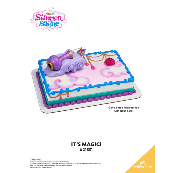 Shimmer and Shine™ It's Magic! DecoSet® The Magic of Cakes® Page