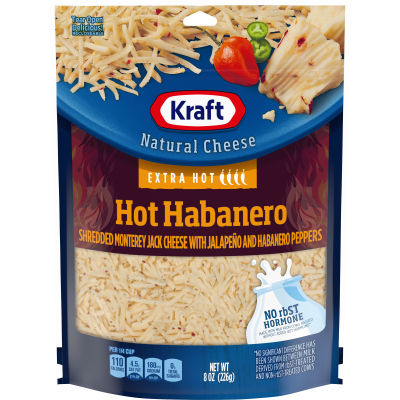 Kraft Hot Habanero Shredded Natural Cheese 8 oz Pouch