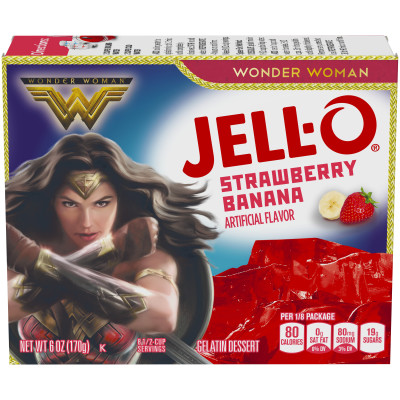 Jell-O Strawberry Banana Gelatin Mix 6 oz Box