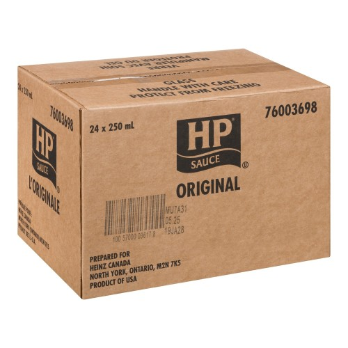 HP Steak Sauce Original Glass 250ml 2