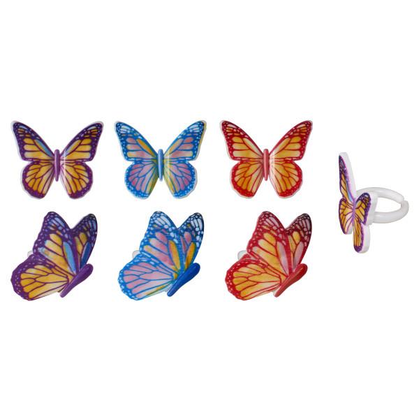 Watercolor Butterflies Cupcake Rings