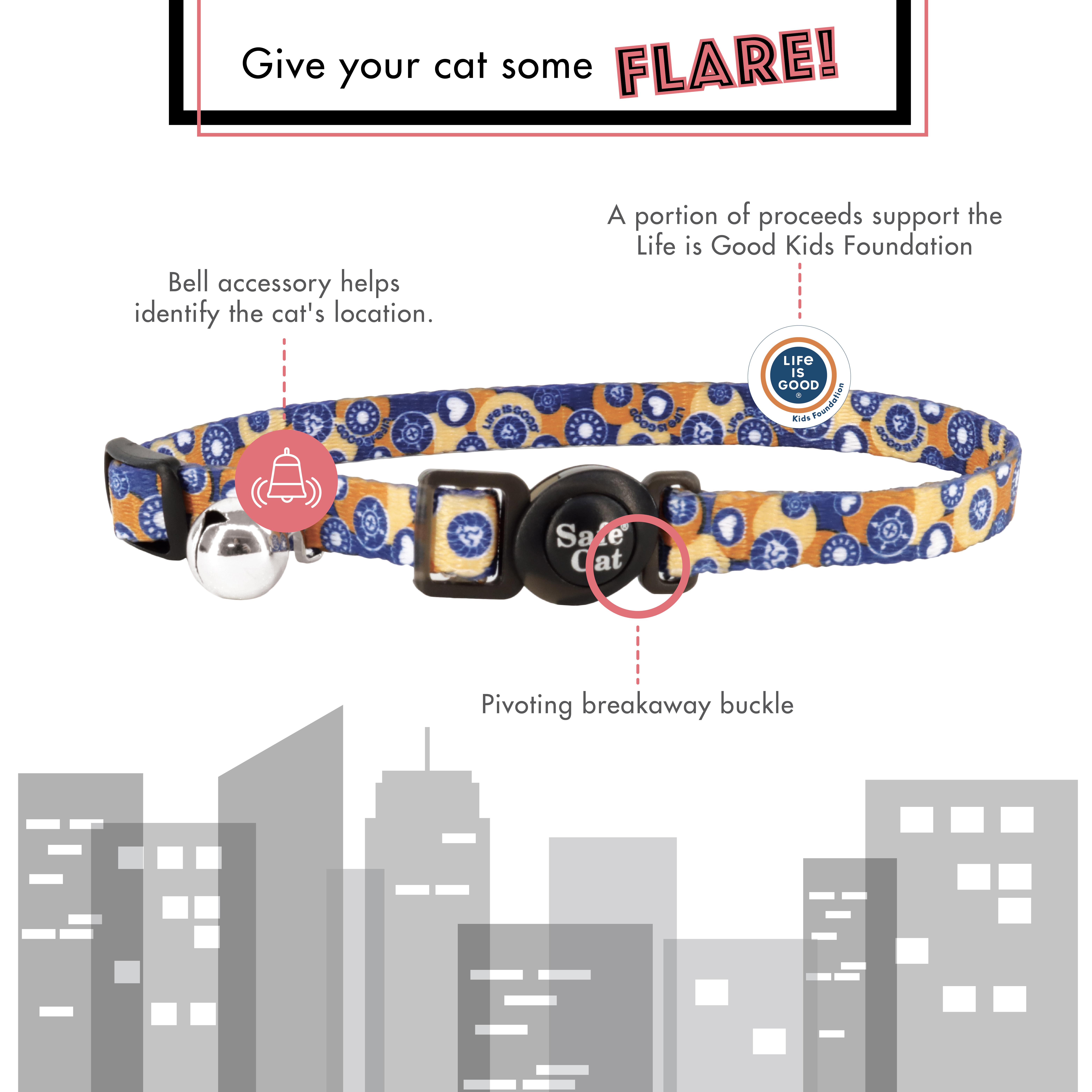 Safe Cat® Life is Good® Adjustable Breakaway Collar