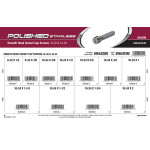 Polished Stainless Smooth-Head Socket Cap Screws Assortment (#8-32 & #10-24 Thread)