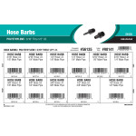 "Polyethylene Hose Barbs Assortment (3/16"" thru 1/2"" Inner Dia.)"