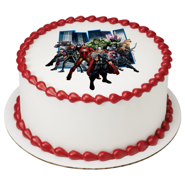 MARVEL Avengers Earths Mightiest Heroes PhotoCake® Edible Image®