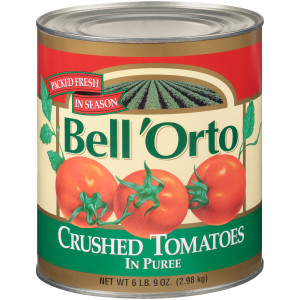 BELL ORTO Crushed Tomato in Puree, 105 oz. Can (Pack of 6) image