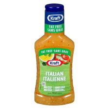 Kraft Fat Free Italian Dressing, 250mL