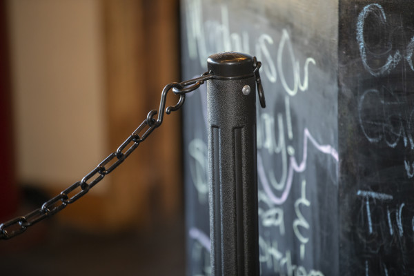 ChainBoss Stanchion - Black Filled with Black Chain 23