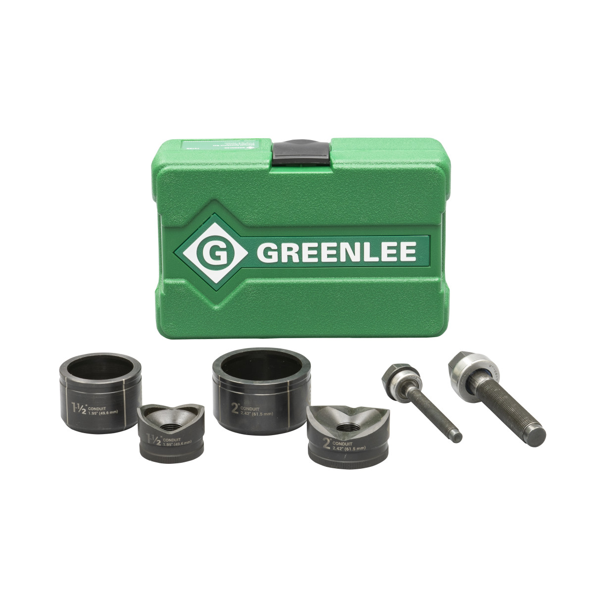 "Greenlee 737BB Standard Knockout Punch Set 1/2"" - 2"" Conduit Size"