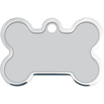 Silver Large Bone Quick-Tag - Raised Edge