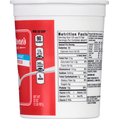 Breakstone's 2% Milkfat Cottage Cheese 32 oz Tub