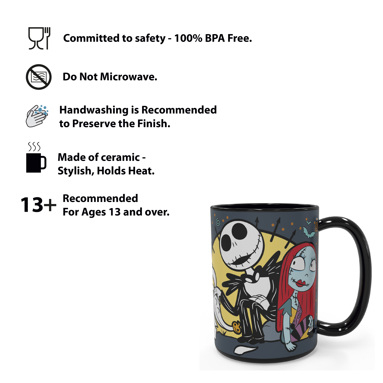 Disney The Nightmare Before Christmas 15 ounce Coffee Mug and Spoon, Jack the Pumpkin King & Sally slideshow image 6