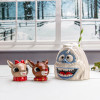 Rudolph the Red-Nosed Reindeer Salt and Pepper Shaker Set, Rudolph & Clarice, 2-piece set slideshow image 2