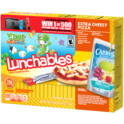 Oscar Mayer Lunchables Extra Cheese Pizza 10.6 oz Box