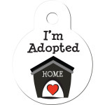 I'm Adopted White Small Circle Quick-Tag