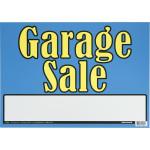 Bright Blue & Yellow Garage Sale Sign