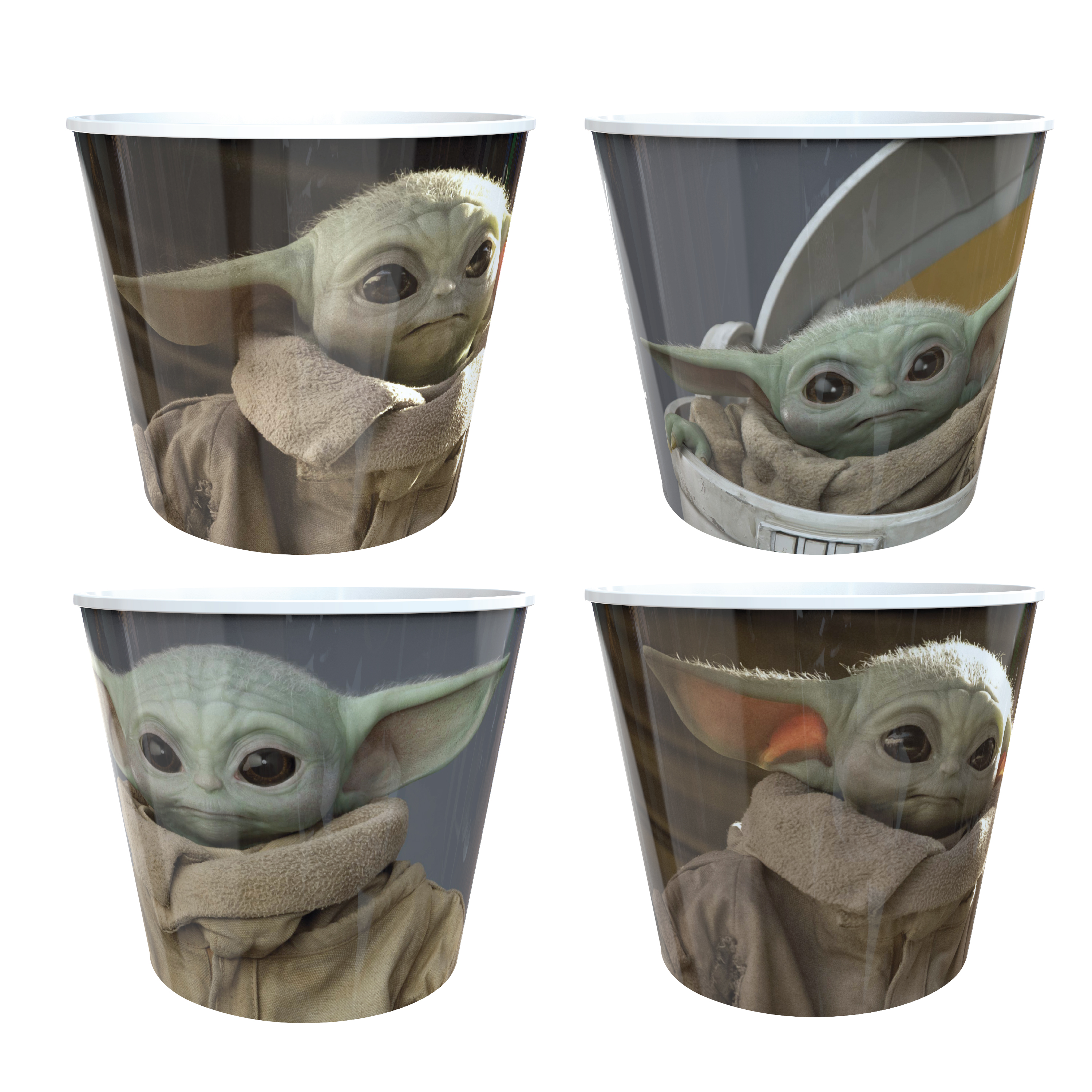 Star Wars: The Mandalorian Plastic Popcorn Container and Bowls, The Child (Baby Yoda), 5-piece set slideshow image 7