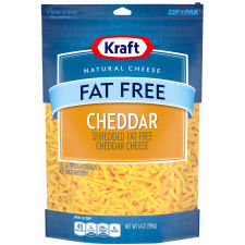 Kraft Fat-Free Cheddar Shredded Natural Cheese 14 oz Pouch