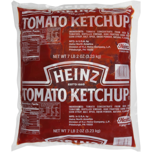 HEINZ Ketchup, 114 oz. Pouch Paks (Pack of 4)