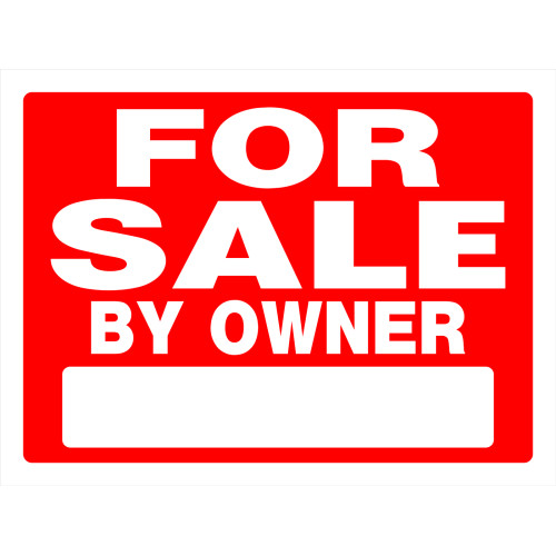 Double Sided For Sale by Owner Sign, 18