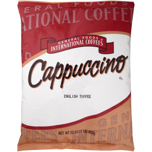 GENERAL FOODS INTERNATIONAL CAFÉ English Toffee Cappuccino Powder, 2 lb. Container (Pack of 6) image