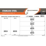 """Stainless Steel Longer-Length Lag Screws Assortment (1/4"""")"""