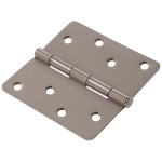 "Hardware Essentials 1/4"" Round Corner Stainless Steel Door Hinges (4"")"