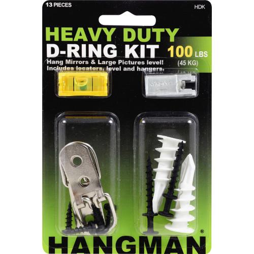 Hillman Hangman Picture Hanging Kit Heavy Duty D-Rings