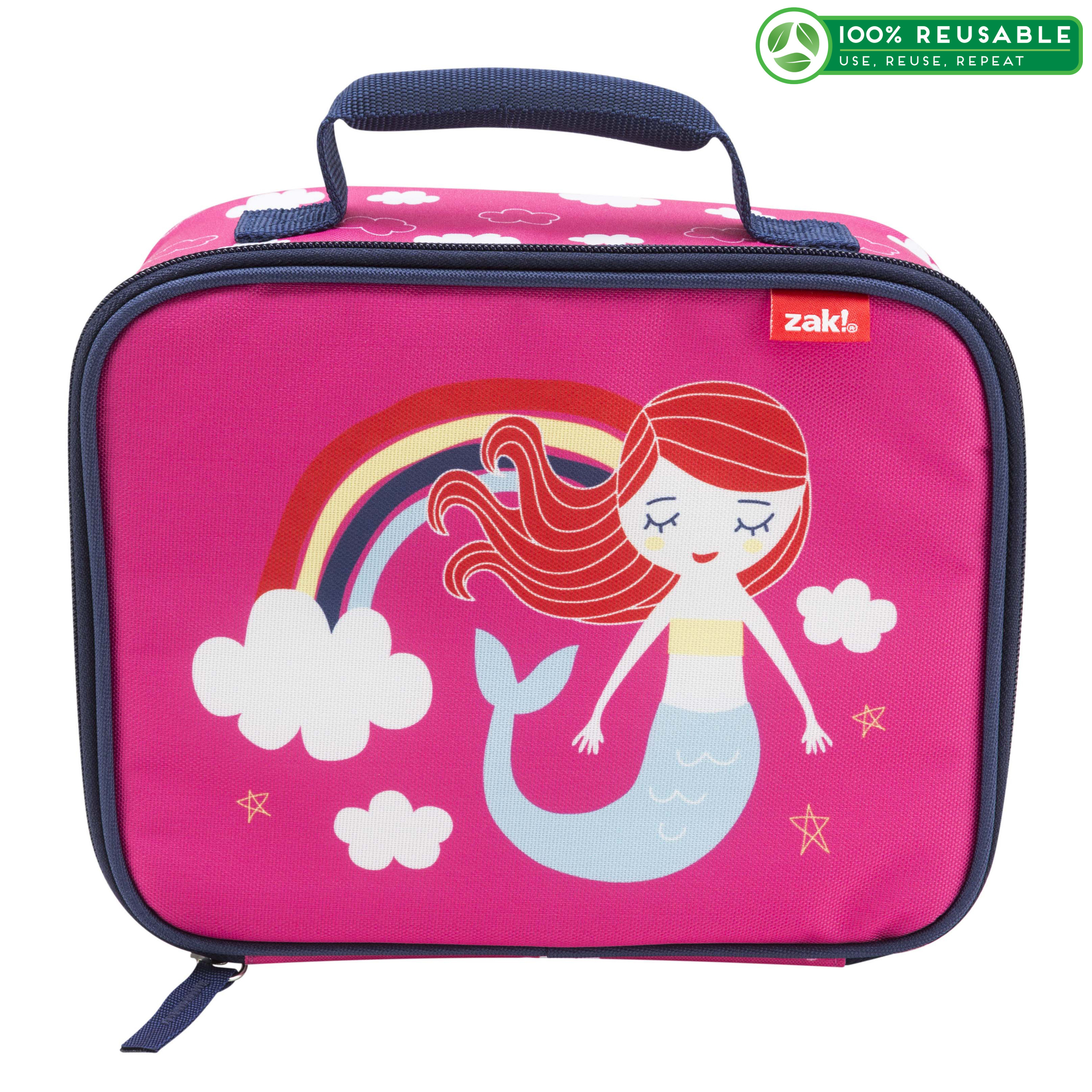 Happy Things Insulated Reusable Lunch Bag, Mermaids slideshow image 1