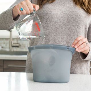 Self-Standing: Silicone Steam Sanitizing Bag maintains a stable upright position while in use.
