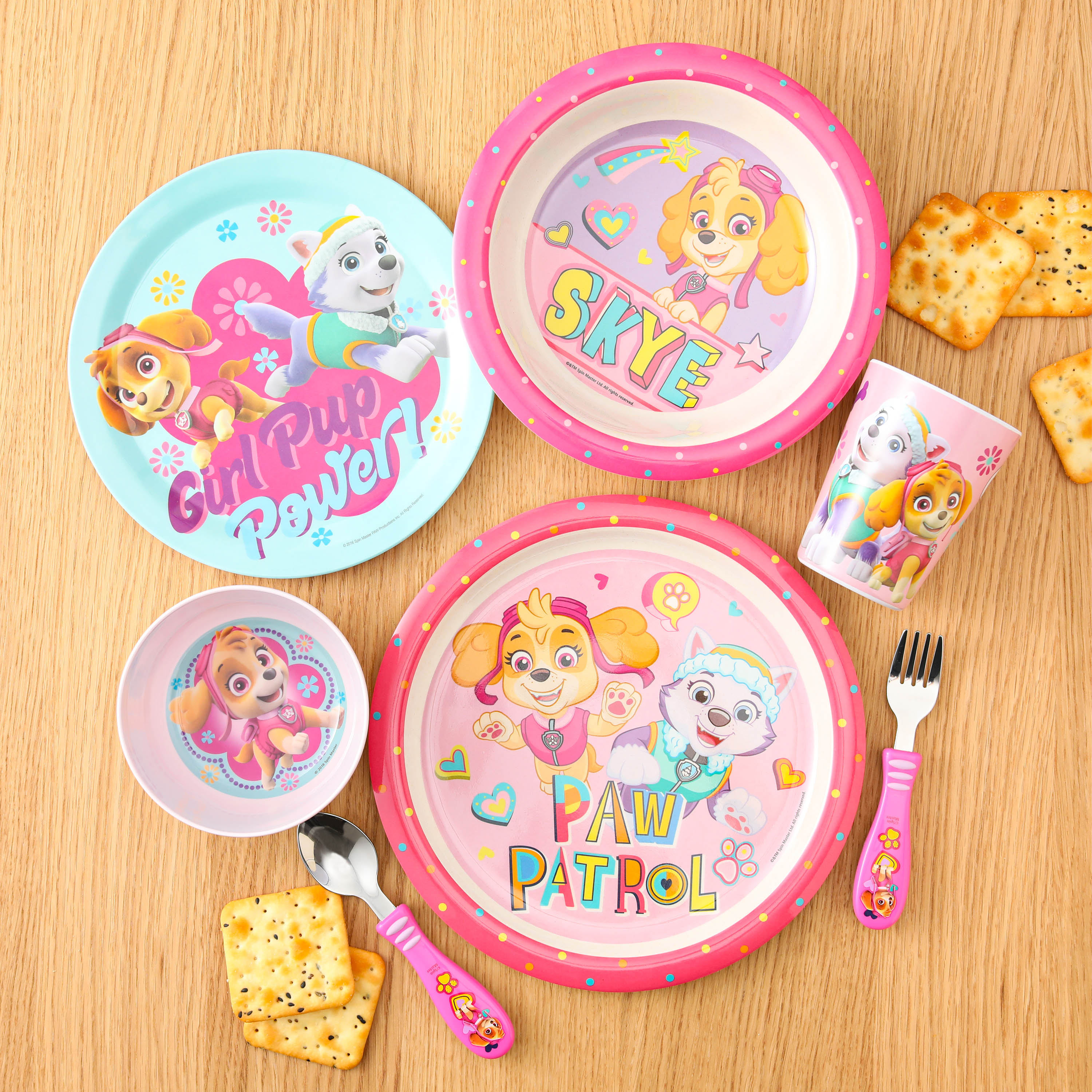 Paw Patrol Dinnerware Set, Skye and Everest, 5-piece set slideshow image 6