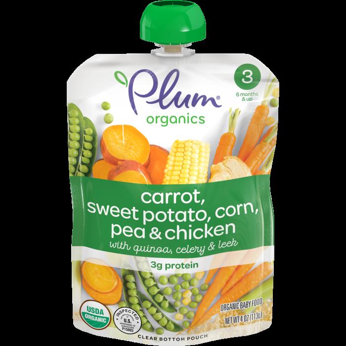 Carrot, Sweet Potato, Corn, Pea & Chicken Baby Food