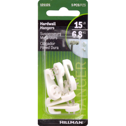 Hillman Nail-In Hardwall Hooks 1/2in