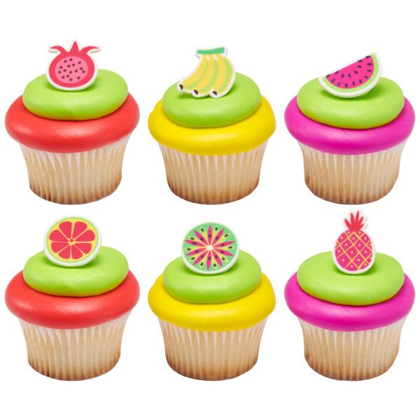 Vibrant Fruit Sweet Décor™ Printed Edible Decorations